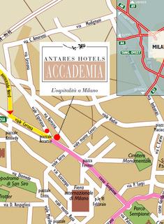Hotel Hotel Morfeo Milano Landkarte