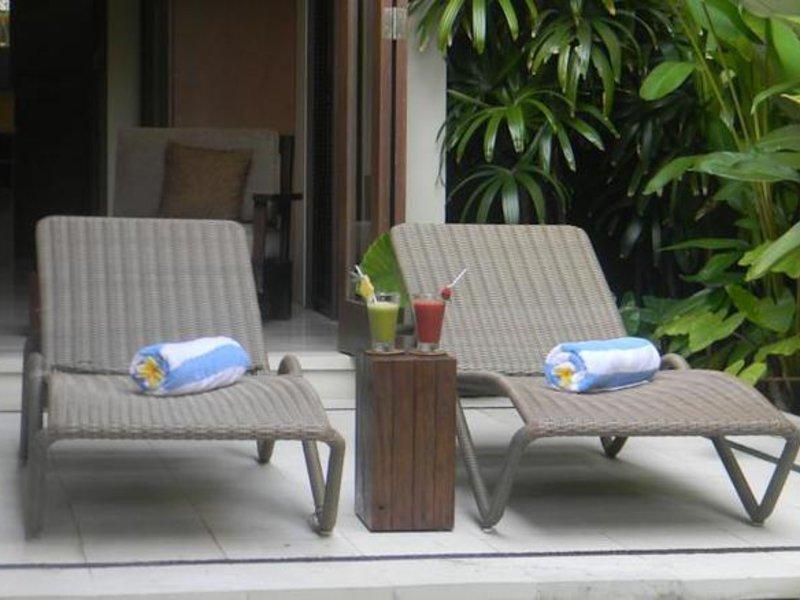 Ahimsa Beach Resort Terrasse