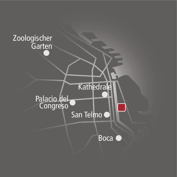 Alvear Icon Hotel Landkarte