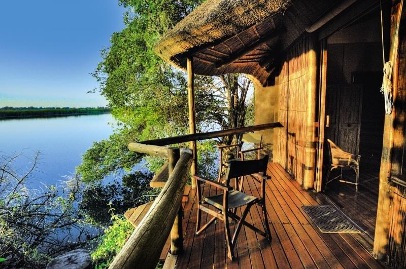 Xugana Island Lodge Terrasse