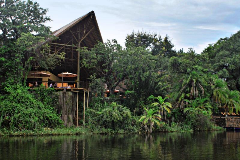 Chobe Safari Lodge Terrasse