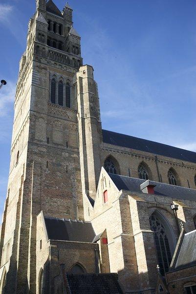 Saint-Sauveur Bruges Außenaufnahme